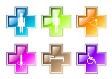 Medical symbols Royalty Free Stock Photography