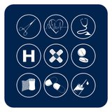 Medical symbols Royalty Free Stock Image