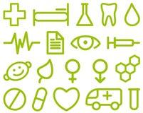 Medical symbols. Set of simple medical symbols Royalty Free Stock Images