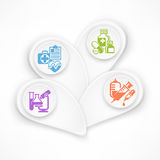 Medical symbols color vector illustration Stock Photos