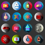 Medical symbols with shadow color icon collection Stock Photography