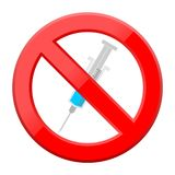 Medical syringe icon no sign Royalty Free Stock Photography