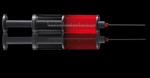 Medical syringe for injections Royalty Free Stock Photos