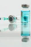 Medical syringe and medicine  isolated on white background Royalty Free Stock Photos