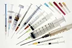 Medical Syringes Stock Photo