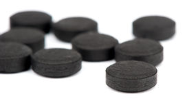Medical Tablet activated coal Royalty Free Stock Photography
