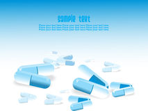 Medical tablet background Stock Images