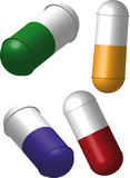 Medical tablet a pill Stock Photography