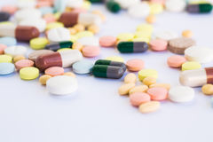 Medical tablets and pills Royalty Free Stock Photography