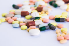 Medical tablets and pills Stock Images