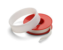 Medical Tape. Roll of White Medical Bandage Tape Isolated on White Background stock photography