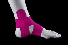 Medical taping. For ankle stabilization Stock Photography