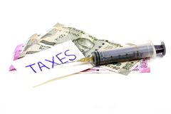 Medical taxes Stock Images