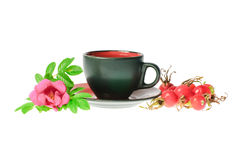Medical Tea With Dog Rose Royalty Free Stock Photography