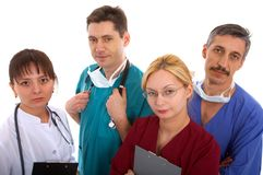 Medical team. Of two men and two women Stock Image