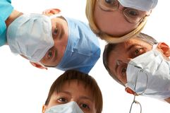 Medical team. Of two men and two women Stock Images