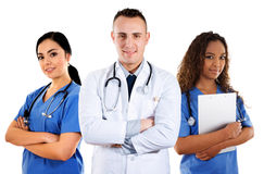 Medical Team. Stock image of medical team over white background Stock Photos