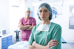 Medical Team. Portrait of a medical team inside operating room Stock Image