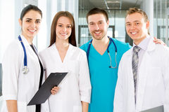 Medical team. Team of doctors at a hospital Royalty Free Stock Photography