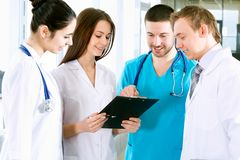 Medical team. Team of doctors at a hospital Royalty Free Stock Images