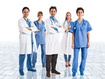 Medical team. Friendly medical team in a bright room Stock Photo