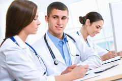 Medical team. Young doctors working in hospital Stock Photo