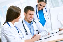 Medical team. Working in hospital stock photography