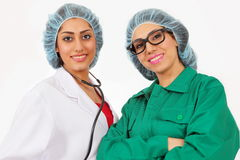 Medical team. Smiling confident medical team with two healthcare professionals Stock Photography