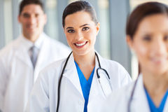 Medical team. Group portrait in hospital royalty free stock photo