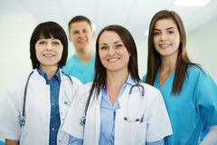 Medical team. Healthcare collection: successful medical team stock photo