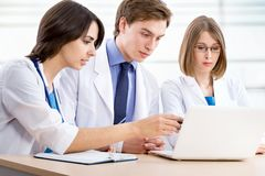 Medical team. In the hospital Royalty Free Stock Photography