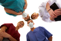 Medical team. Of two men and two women Stock Photography