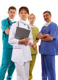 Medical team. Of two men and two women royalty free stock photos
