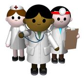 Medical team. 3D illustration of a team of medical professionals Royalty Free Stock Images