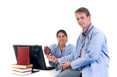 Medical team, cardiologist Royalty Free Stock Images