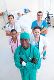 Medical team with a child patient Royalty Free Stock Images