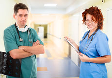Medical team in clinic Royalty Free Stock Photo