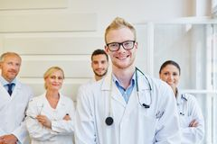 Medical team at clinic. As team of doctors royalty free stock photos