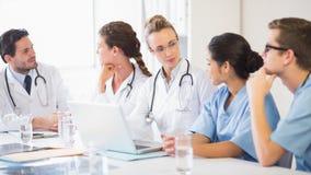 Medical team discussing Stock Photos