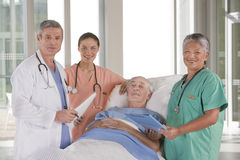 Medical team discussing results Stock Image