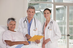 Medical team discussing results Royalty Free Stock Photography