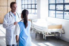 Medical team discussing together royalty free stock photo