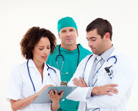 Medical team in discussion Royalty Free Stock Photos