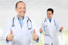 Medical team doctor happy smile excited Royalty Free Stock Image