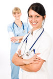Medical team doctor young nurse female smiling Stock Images