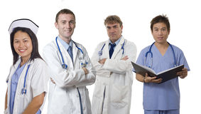 Medical Team of Doctors and Nurse Stock Images