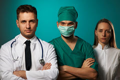Medical team of doctors Stock Photography