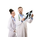 A medical team of doctors Royalty Free Stock Photo