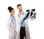 A medical team of doctors Royalty Free Stock Photos