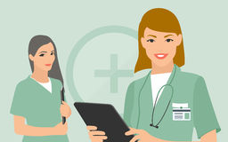 Medical team flat illustration Royalty Free Stock Photos